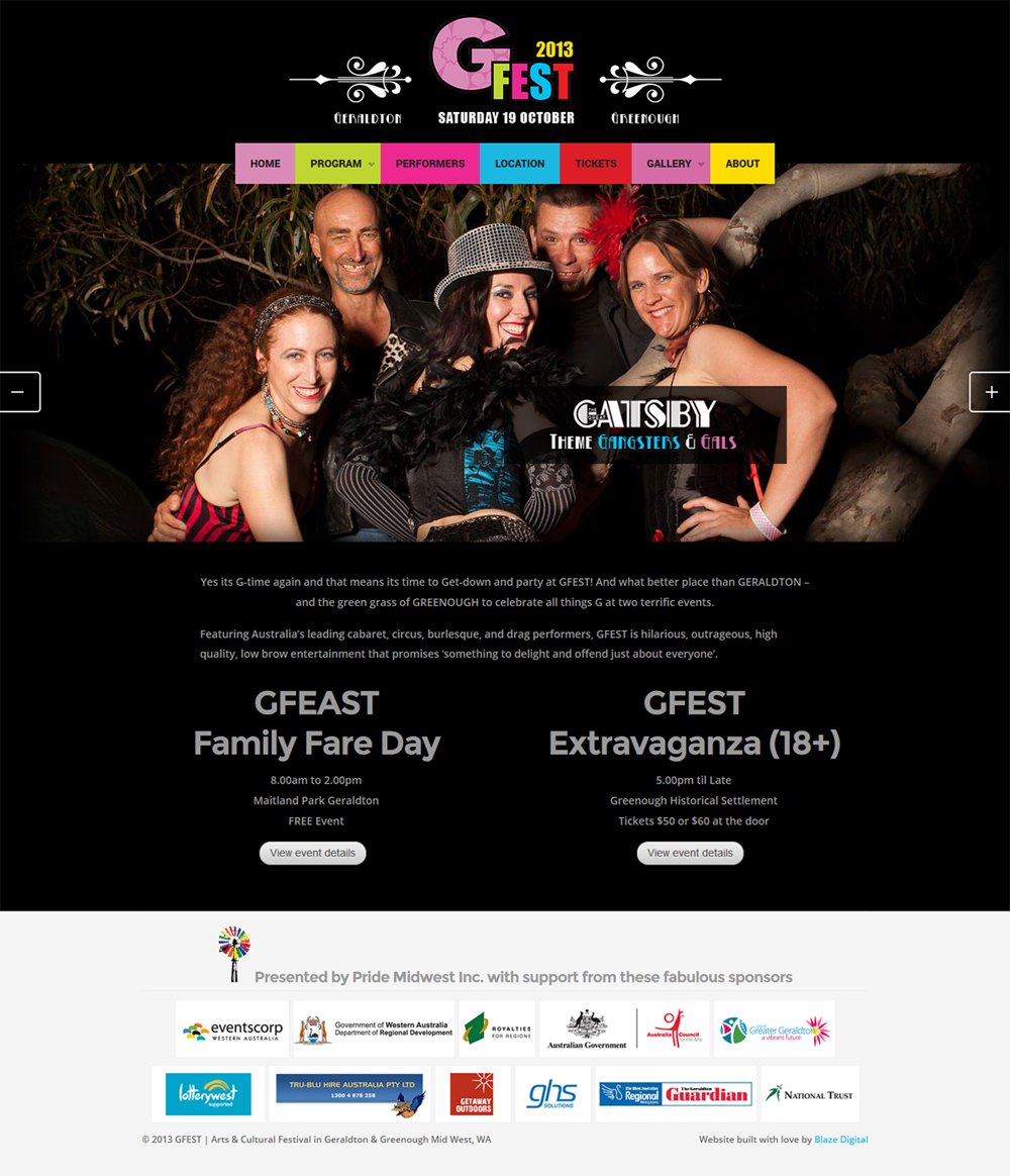 GFEST home page design