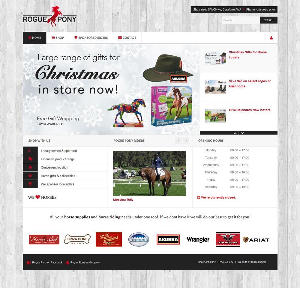 Rogue Pony web design
