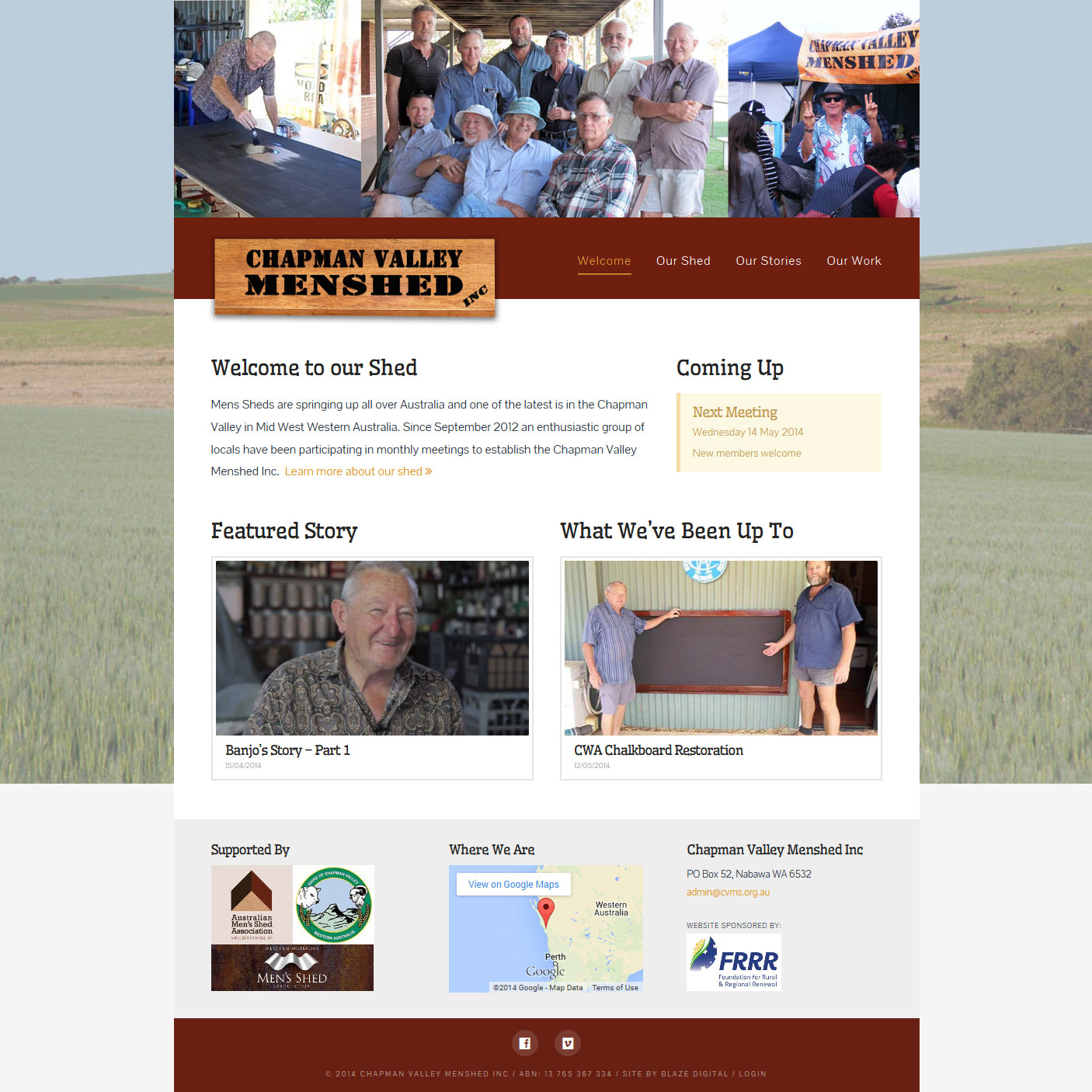 Chapman Valley Menshed home page