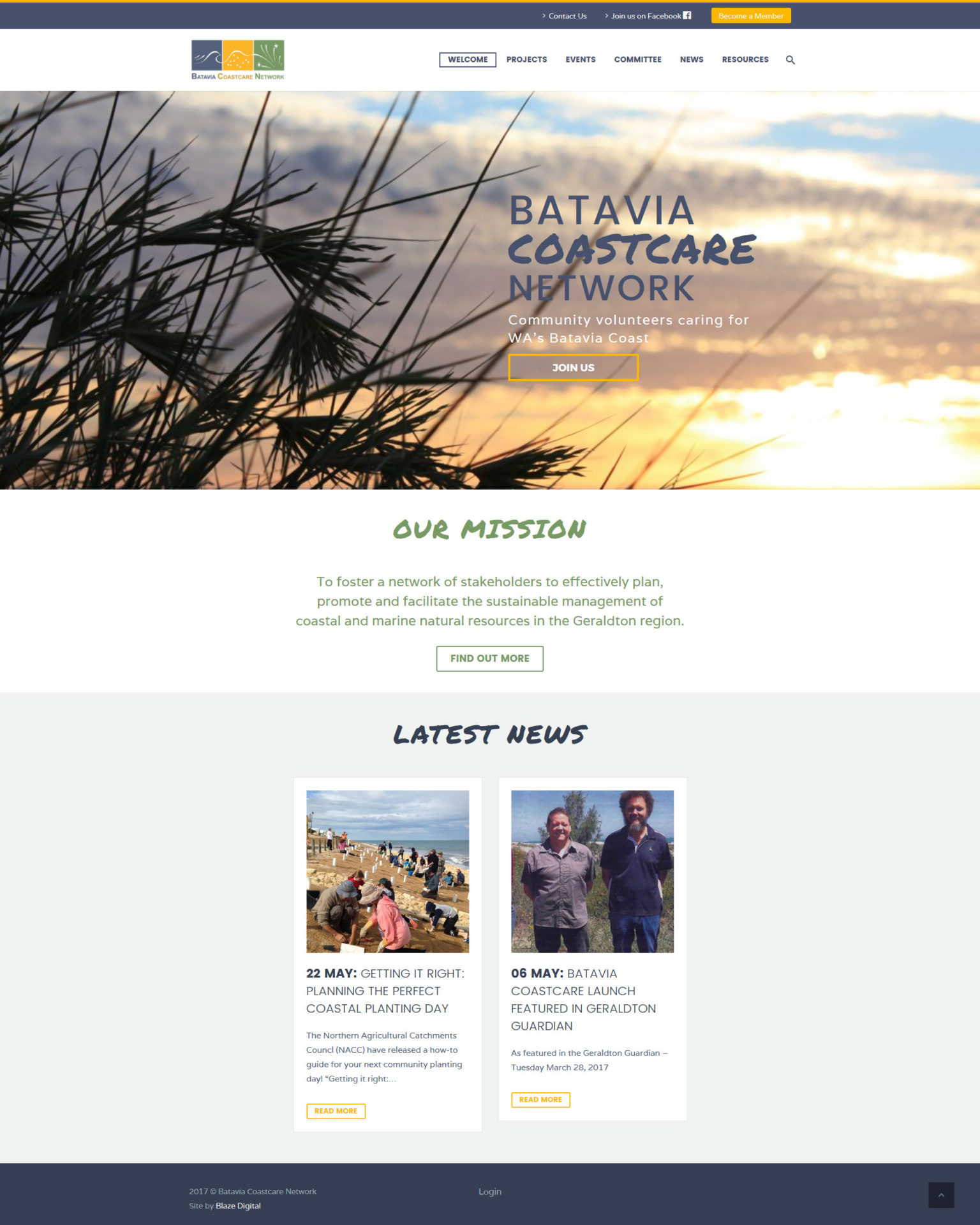 Batavia Coastcare Network Website