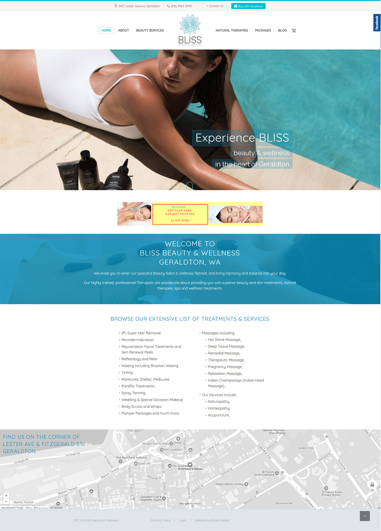 BLISS beauty home page design