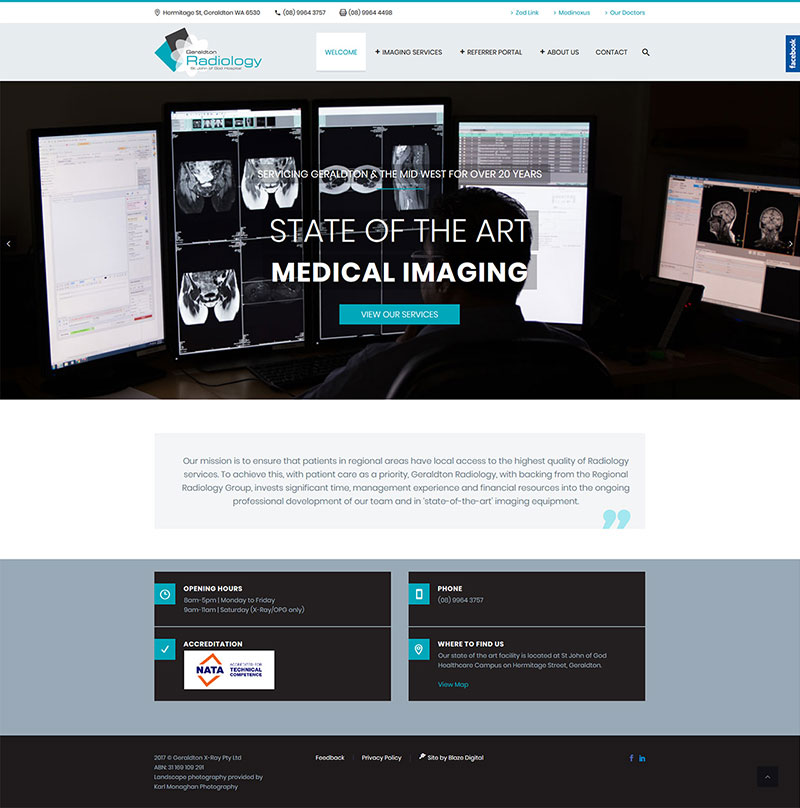 Geraldton Radiology web design
