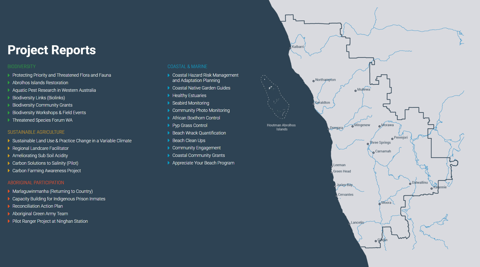NACC Annual report project map