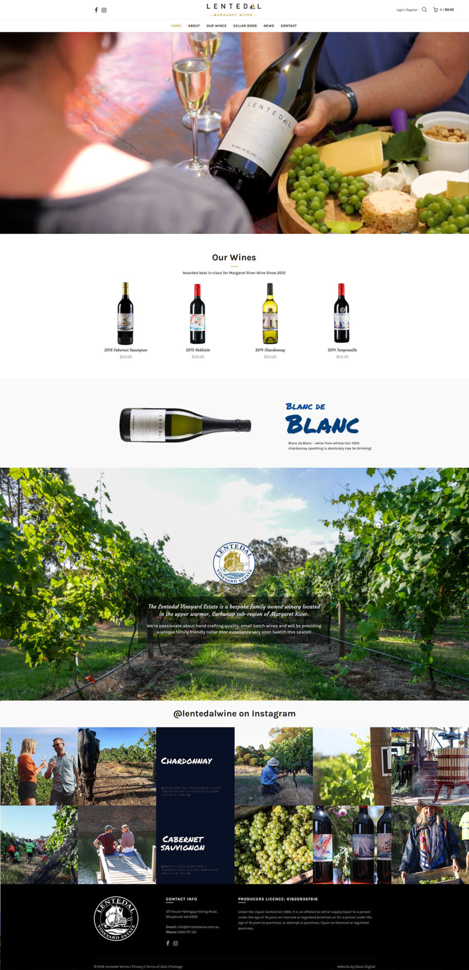 Lentedal Wines Home Page