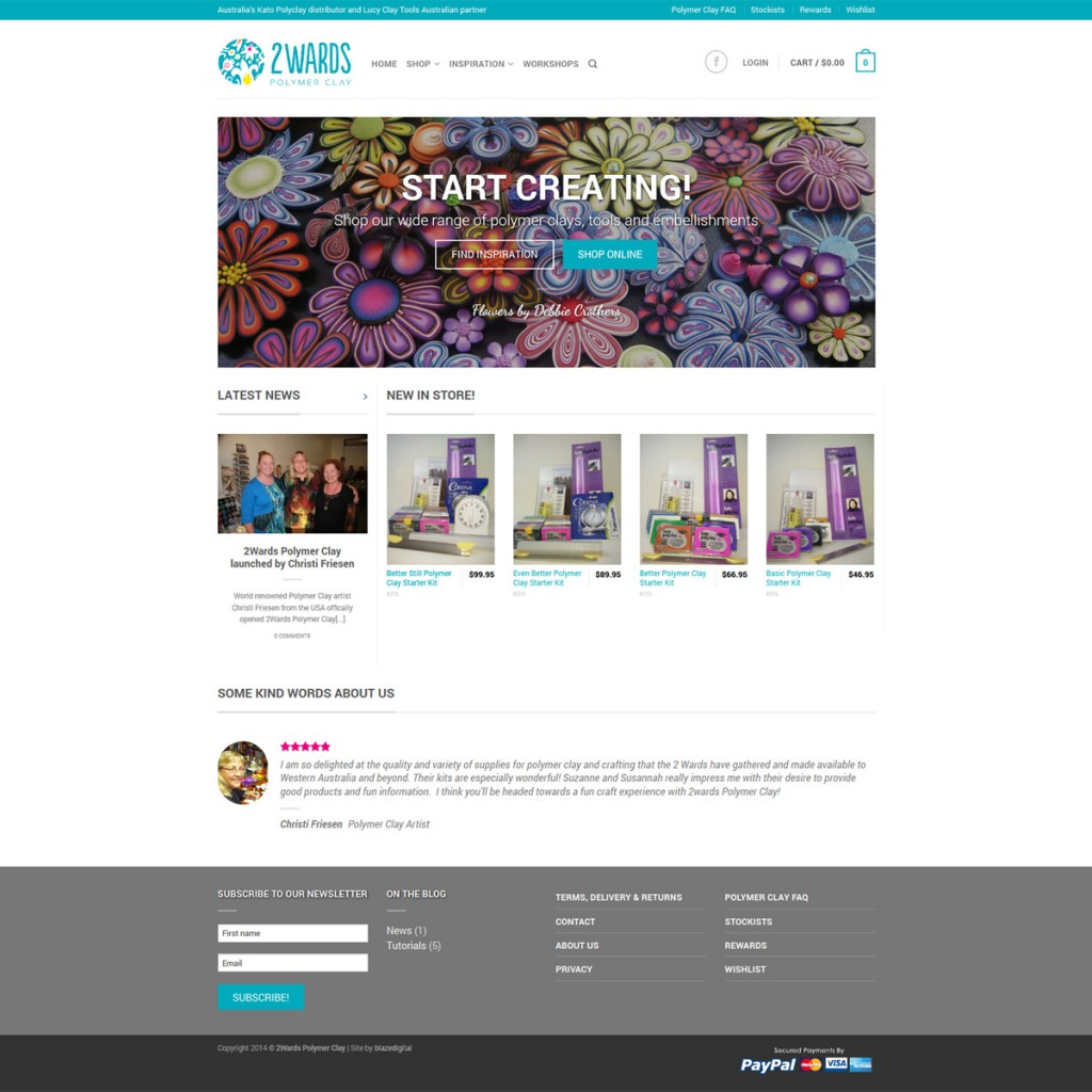 2wards Polymer Clay ecommerce store