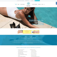BLISS beauty web design